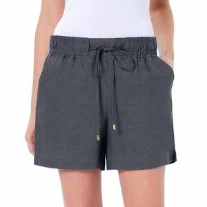 Ellen Tracy Gray linen drawstring shorts NWT XXL